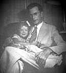 Marilu as a young child sitting on the lap of her father, Hansel Holmes.  Click on image to enlarge.