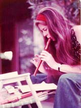 Marilu playing recorder in early 1970's.  Click on image to enlarge.