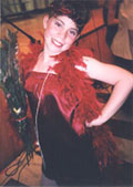 Rachelle as flapper, backstage at her elementary school theatre.  Click on image to enlarge.